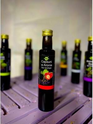 Suc ecologic de Aronia si Capsuni, sticla 0,25 l