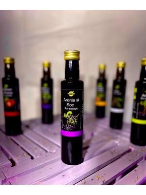 Suc ecologic de Aronia si Soc, sticla 0,25 l
