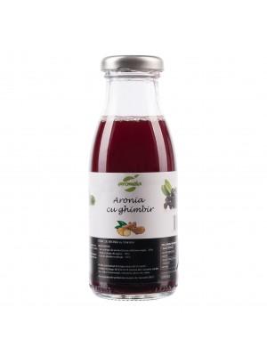 Suc tonic ecologic de aronia (contine ghimbir), sticla 0.2 l.