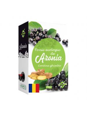 Tonic ecologic de aronia (contine ghimbir), cutie 3 lSuc tonic ecologic de aronia (contine ghimbir), cutie 3 l