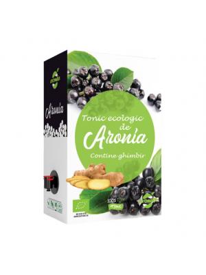 Tonic ecologic de aronia (contine ghimbir), cutie la 2 l.