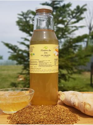 Tonic ecologic de soc (contine floare de soc, miere si ghimbir), sticla 750 ml