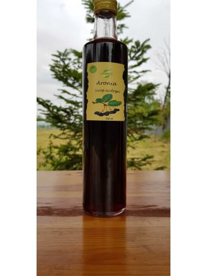 Sirop de aronia, low sugar, sticla 0,5 l