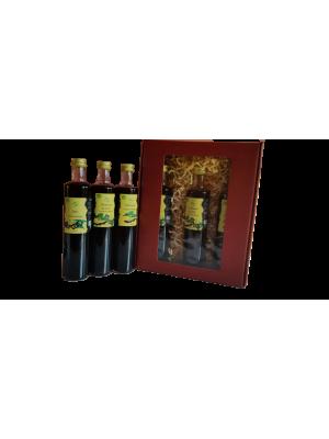 Pachet cadou siropuri ecologice pe baza de aronia, sticle 500 ml.