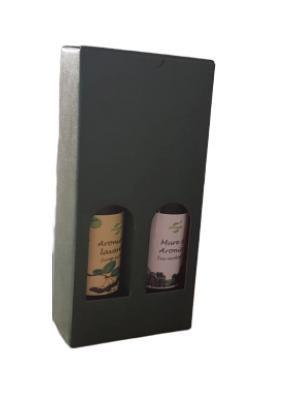 Pachet cadou sirop ecologic de aronia si lavanda, sticle 250 ml.