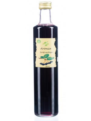 Organic aronia syrup, 0.5l glass bottle