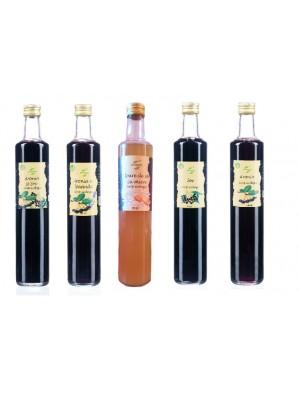 Colectia siropuri ecologice Aromela, 5 sticle de 500 ml.
