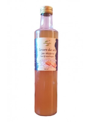 Organic Elderflower and Honey syrup, glass bottle 500 ml.