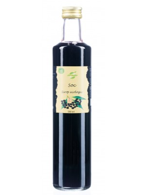 Organic elderberry syrup, 0.5 L glass bottle