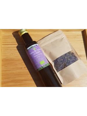 Sirop ecologic de lavanda cu miere, sticla 250 ml.