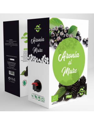 Organic Aronia and Blackberry juice, BIB 3 l