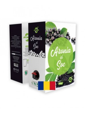 Organic Aronia and Elderberry juice, bag in box 3 L